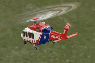 A man in his 50s is transported to the Alfred hospital with a broken leg and in a critical condition
