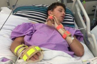 Ollie Bierhoff recovers in hospital.