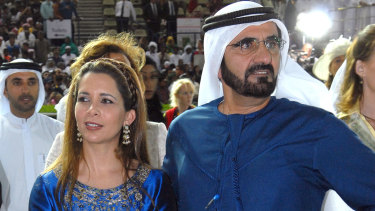 Dubai's ruler Sheikh Mohammed Bin Rashed Al Maktoum and his wife, Jordan's Princess Haya Bint Al Hussein in 2007.