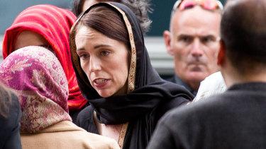 Jacinda Ardern meets members of the Muslim community in Christchurch.