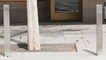 Shotgun shells litter the streets of Queanbeyan where police are investigating a critical incident.