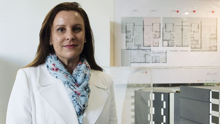 'The transport system isn't coping': Dianna Edwards, who sells apartments in a new development called Glade & Stubbs.
