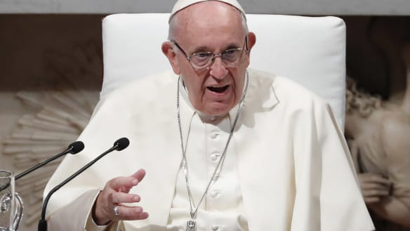 Pope urges action on plastic in the ocean