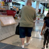 Arts Minister Don Harwin photographed shopping at Eastgardens Westfield in South Sydney on March 22.