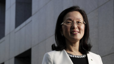 New Liberal MP Gladys Liu at Parliament House in Canberra.