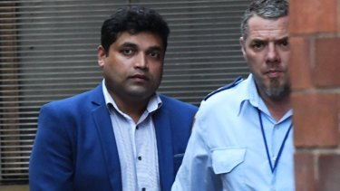 Shahab Ahmed is taken from the NSW Supreme Court in Sydney last month.