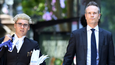 Liberal hopeful Tim James, pictured with his barrister David Smallbone, lost his challenge against the preselection of North Shore rival Felicity Wilson.