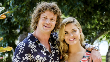 Cummins with Sophie in the final episode.