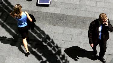 Women's employment fell sharply last month.