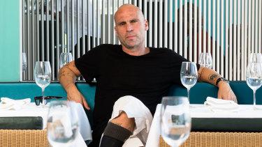 Maurice Terzini in his restaurant Icebergs in Bondi.