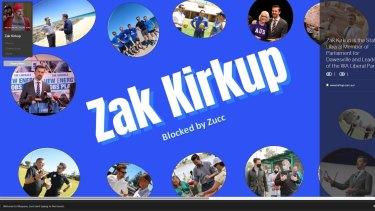 Zak Kirkup's Myspace page.