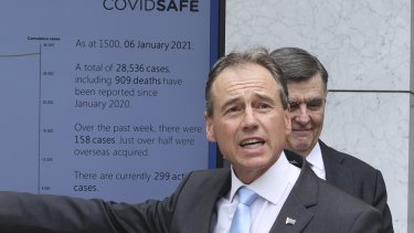 Health Minister Greg Hunt says Australia will pursue a herd immunity strategy as it waits to see how effective the COVID-19 vaccines are.