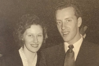 Anna and Vince were married at a church in Sunshine on October 2, 1954.