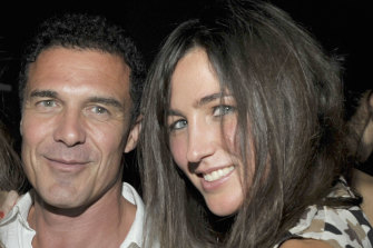 Katherine Keating, right, in 2010 with then boyfriend Andre Balazs, who introduced her to New York high society.