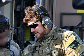 Ben Roberts-Smith in Afghanistan when he was a corporal in the Special Air Service regiment.