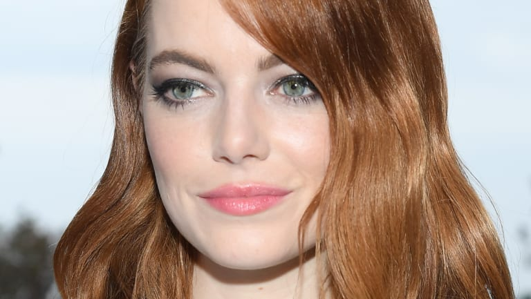 Emma Stone front row at Louis Vuitton 2019 Cruise Collection.