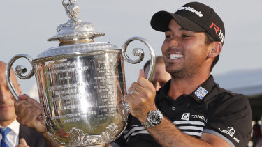 Not satisfied: Jason Day says he won't be happy unless he adds to his sole major, the 2015 PGA Championship.
