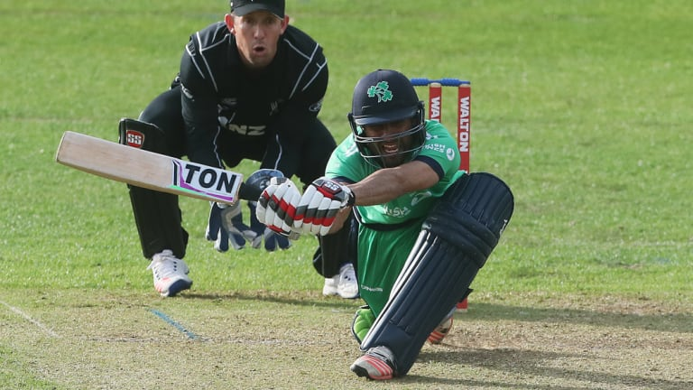 Ireland's Simi Singh bats during a tri-nations series last year.