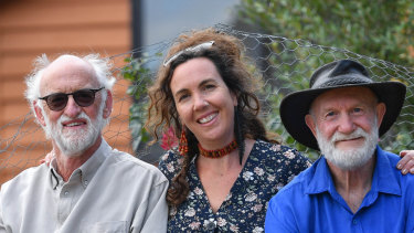 Peter Cock, Chelsea McNab and Bob Rich.