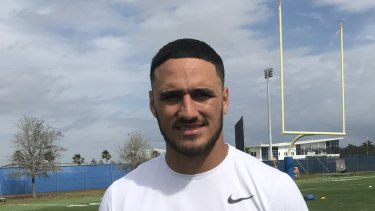 Former Cronulla fullback Valentine Holmes is a step closer to his NFL dream.