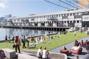 An artist's impression of the Walsh Bay redevelopment with Pier 2/3 in the background.