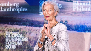 """IMF chief Christine Lagarde has warned """"the climate of the global economy is beginning to change."""""""