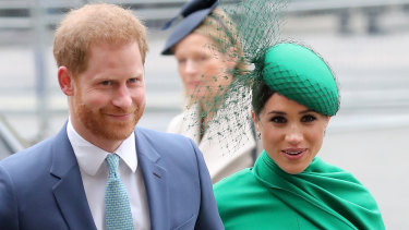 Prince Harry and Meghan at the Commonwealth Day Service in London.