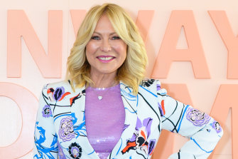 You can't keep a good woman down, or off the trapeze: Kerri-Anne Kennerley.