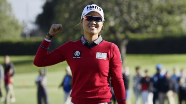 On the cusp of world No.1: Australia's Minjee Lee.
