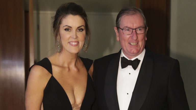Peta Credlin and Brian Loughnane arrive for the Mid Winter Ball.