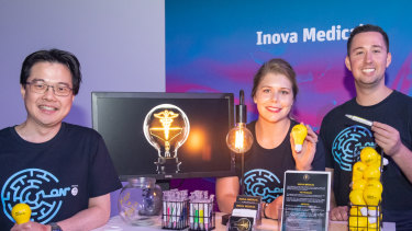 Inova Medical founders Ming Khoon Yew, Melanie White and Alex Hayes.