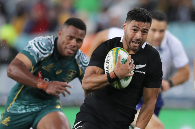 Richie Mo'unga scored two tries in Sydney.