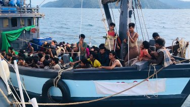 Malaysian authorities arrested a boatload of Muslim Rohingya refugees after their boat was found adrift in early April. At least two dozen Rohingya died at sea last month.