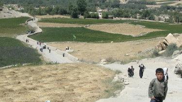 School children in central Bamiyan.
