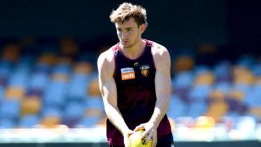 Hamstrung: Brisbane defender Harris Andrews faces a race to return to fitness for finals.