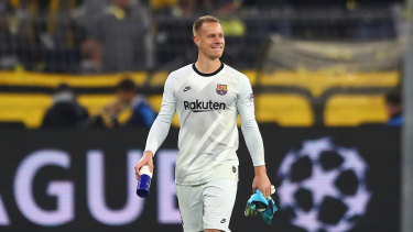 Marc-Andre ter Stegen saved a penalty for Barcelona.