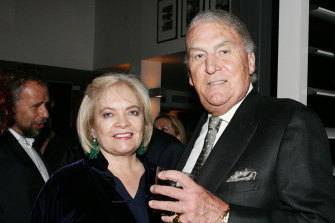 Love of his life: Caroline and John Laws in 2005.