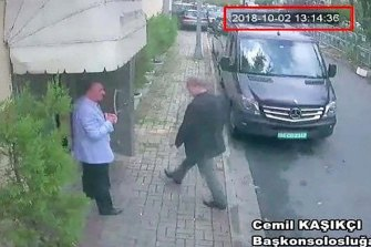 Saudi journalist Jamal Khashoggi entering the Saudi consulate in Istanbul, Tuesday, October 2, 2018.