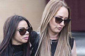 """Kristy Torrisi outside the Darlinghurst court on Wednesday, left, said her mother Rita was """"killed and butchered like she was nothing."""