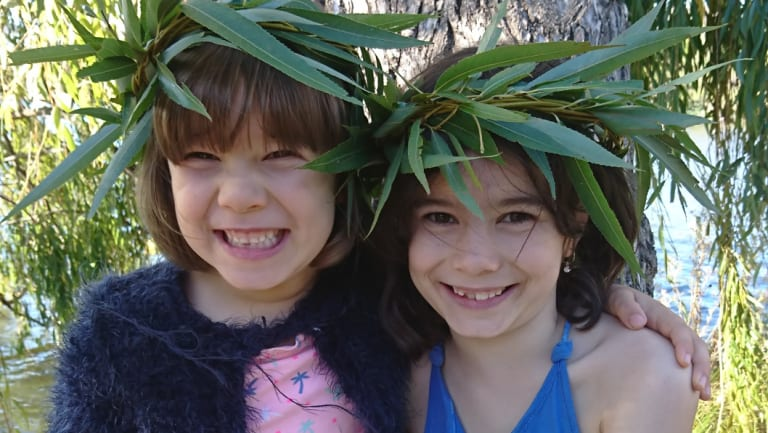 Daliah Lee, eight,  (right) with her six-year-old sister Heidi.