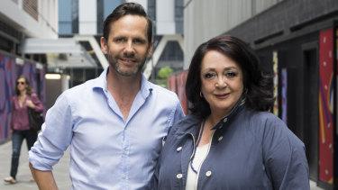 ABC Sydney hosts Robbie Buck and Wendy Harmer.