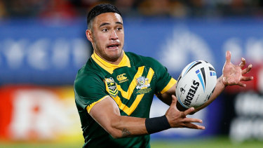 Crossing codes: Valentine Holmes is pursuing his NFL dream.