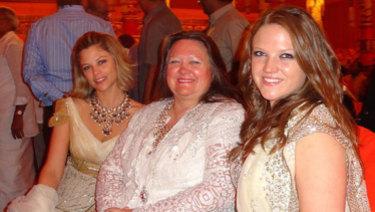 Bianca Rinehart, Gina Rinehart and Ginia Rinehart.