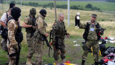 The MH17 crash site in Ukraine.