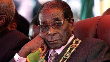 Zimbabwe's former  president Robert Mugabe in happier times.