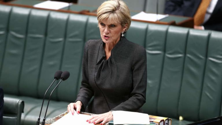 Foreign Affairs Minister Julie Bishop: resisted calls for Magnitsky law.