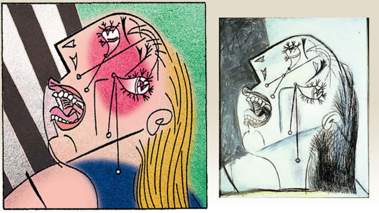 Pablo Picasso's famous series of Weeping Woman pictures.