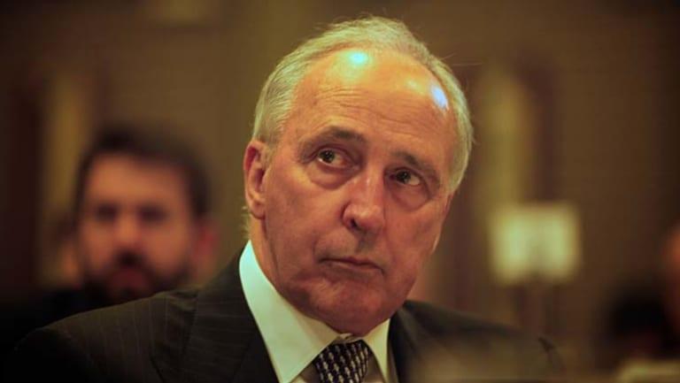 Former prime minister Paul Keating