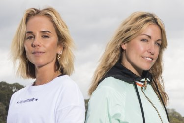 Pip Edwards and Claire Tregoning (pip in white top). PE Nation will be the first ever brand to do a collection for H&M