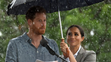 The Duke and Duchess of Sussex in Dubbo on Wednesday.